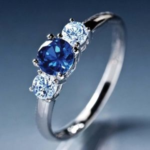 Cielo Scienza Sapphire Sterling Silver Ring size 9